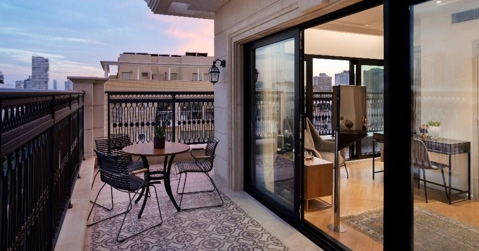 נוף ממרפסת בחדר סטודיו טרסה - ג'ייקוב שמואל